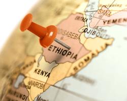 Mapa Etiópie