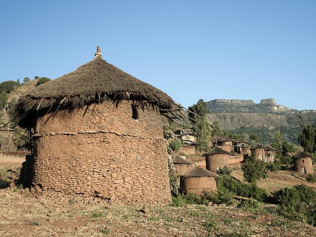 Africká dedina Lalibela, Etiópia