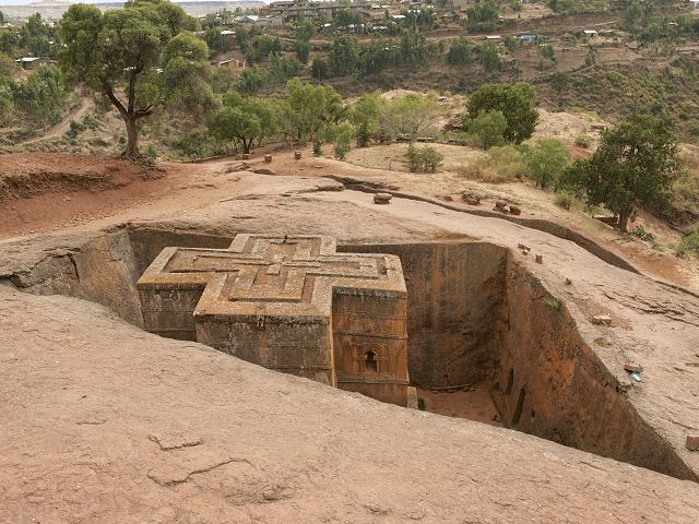 Podzemny kostol v Lalibela, Etiopia